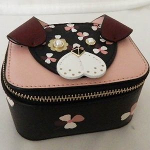KATE SPADE Floral Pup Travel Jewelry Holder Case